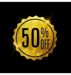 Golden sale label vector