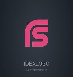 RS initial logo RS initial monogram logotype vector image