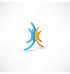 Successful team icon vector