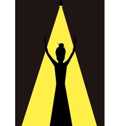 woman opera singer vector image