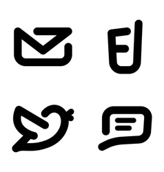 Minimalistic contact icons vector image vector image