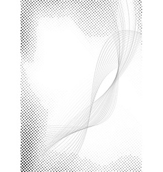 Modern halftone swoosh speed abstract lines vector image vector image