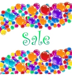 Word Sale and baloons vector image vector image