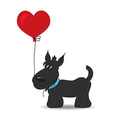 Dog in love vector image vector image