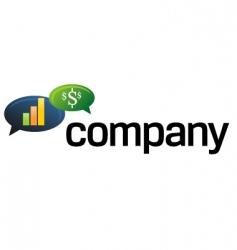 financial speech bubble logo vector image vector image