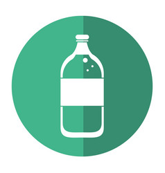 mineral water bottle fresh shadow vector image vector image