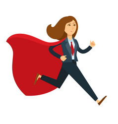 superwoman or super woman office manager in vector image vector image