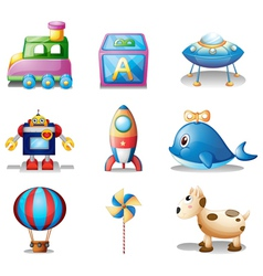 Toys for children vector image vector image