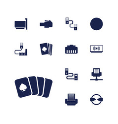 13 jack icons vector