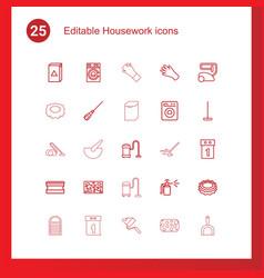 25 housework icons vector