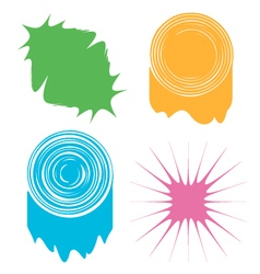 a set of four abstract colored blots vector image