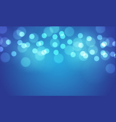 abstract blue bokeh blur light background vector image
