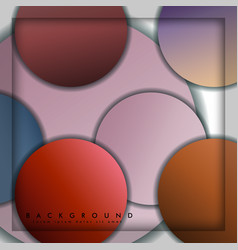 abstract circle background with color stone and vector image