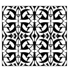 Abstract lattice monochrome seamless pattern vector