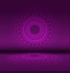 abstract mandala design background vector image