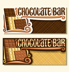 banners for chocolate bar vector image