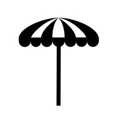 Beach umbrella summer icon vector