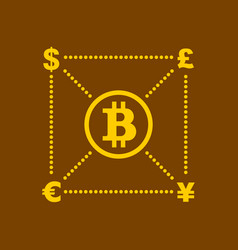 bitcoin and other currency concept vector image
