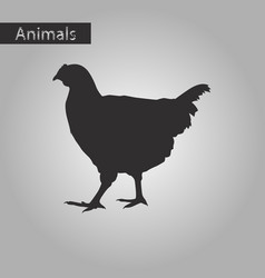 Black and white style icon of hen vector