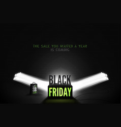 black friday 60 percent sale banner vector image