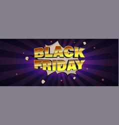 Black friday sale glossy volumetric golden text vector