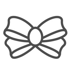 Bow for gift line icon knot vector