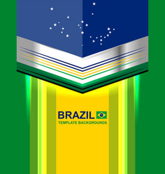 Brazil geometric template backgrounds vector