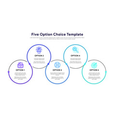 Business model with 5 options and choices vector