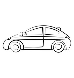 car drawing on white background vector image