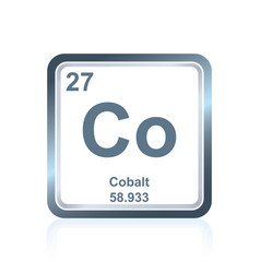 Chemical element cobalt from the periodic table vector
