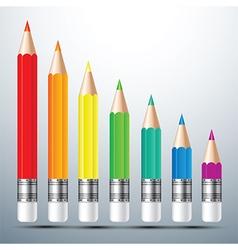 Color pencil set 2 vector