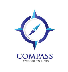 Compass logo design template vector
