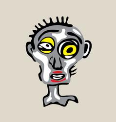 Cool dead face vector