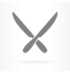 crossed knife icon vector image
