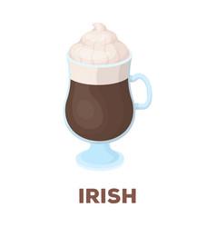 cup of irish coffeedifferent types of coffee vector image