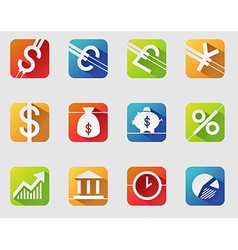 Currency symbols vector image
