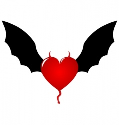 demon heart vector image