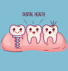 Dental health related design vector