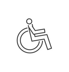 disabled handicap concept icon in thin line vector image