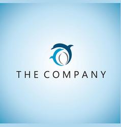 Dolphin logo ideas design vector