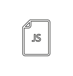 Download js document icon - file format vector