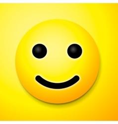 Emoji smile symbol vector image