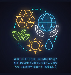 epi neon light concept icon vector image