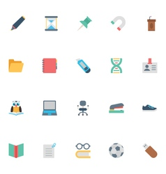 Flat Education Icons 3 vector