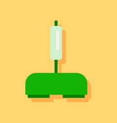 Flat icon design collection playing joystick in vector