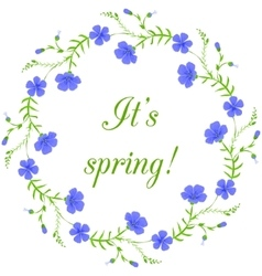 Floral frame spring wreath design element vector