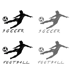 football and soccer player vector image