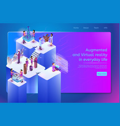 Future digital services for work web banner vector