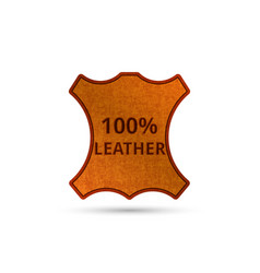 Genuine leather product tag realistic abstract vector