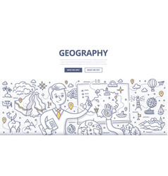 geography doodle concept vector image